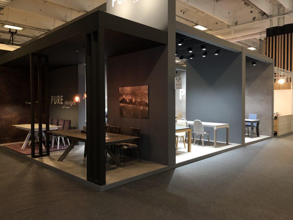 STAND PURE DESIGNS TABLES DE SALLE A MANGER ESPRITMEUBLES PARIS 2018