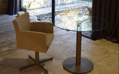 ROUND DEKTON-CERAMIC-MESA DE COMEDOR-TABLE DE SALLE A MANGER-EESTISCH-DINING TABLE